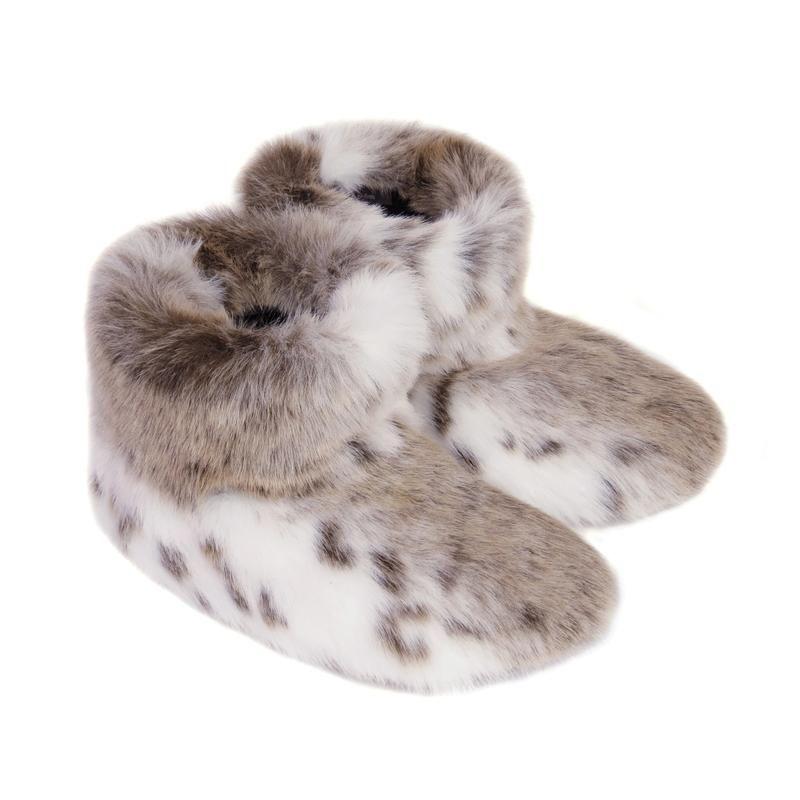 Helen Moore Faux Fur Slipper Boots in Lynx