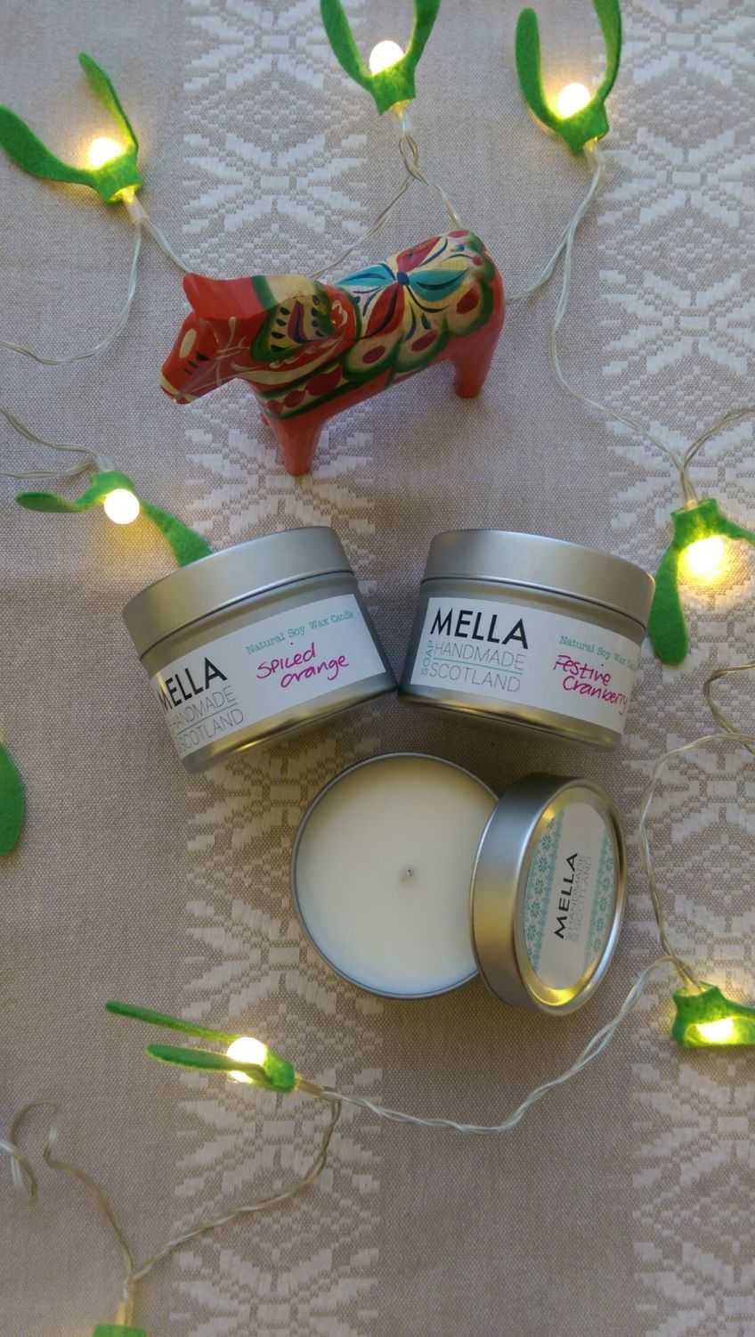 3 Fruity Christmas Candles