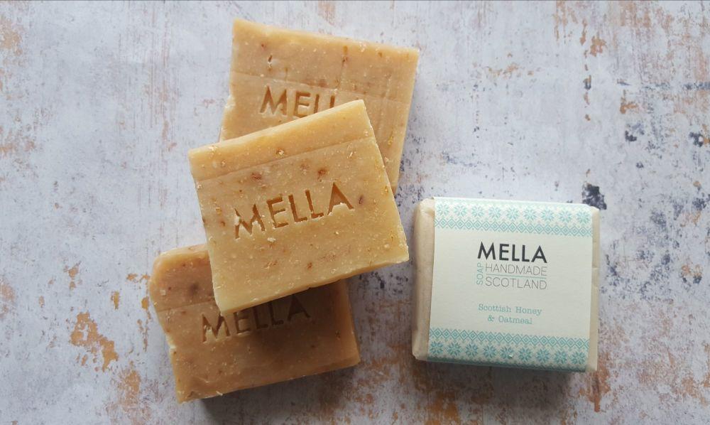 3 Wonky Honey and Oatmeal Bar Soap