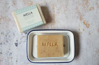 Enamel Soap Dish and Mella Soap