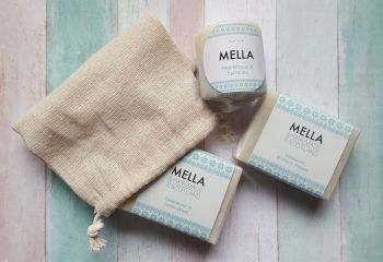 Mella Soap and Shower Scrub Bundle