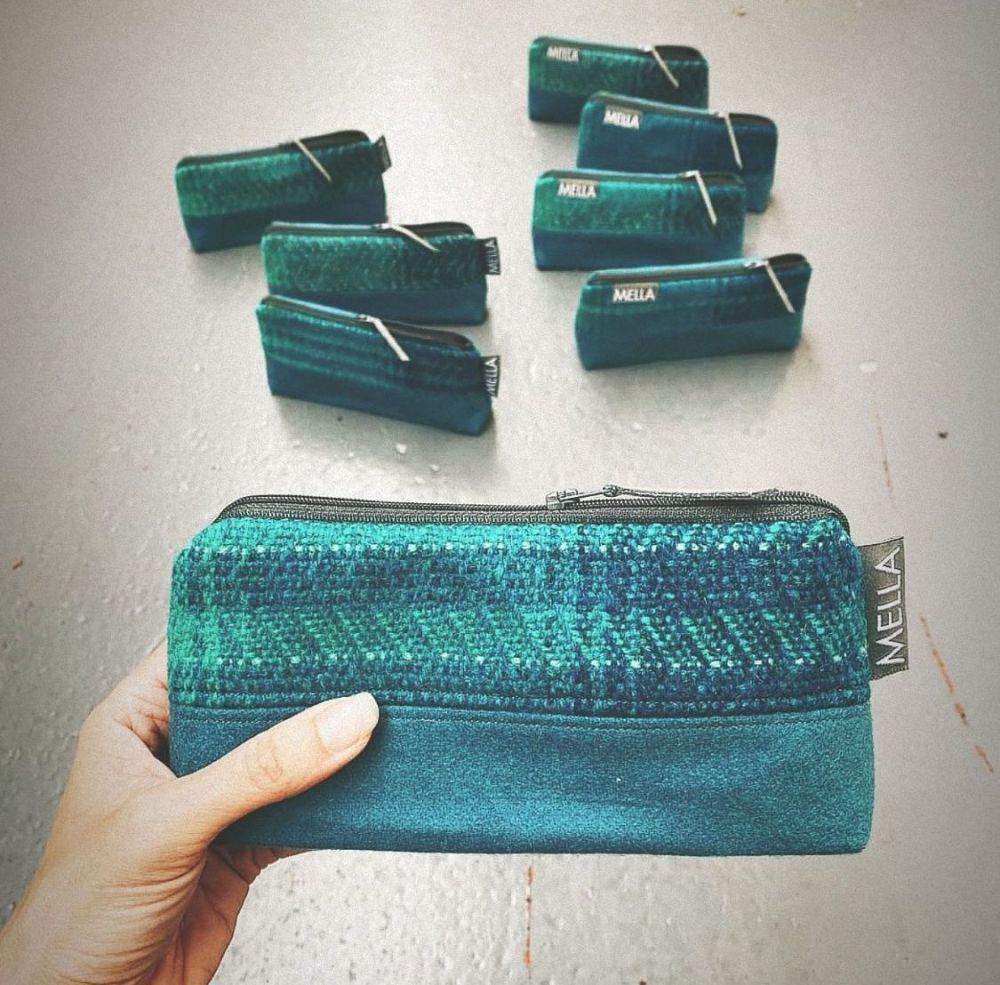 Shetland Tweed Cosmetic Bag