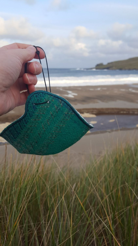 Shetland Tweed Face Covering