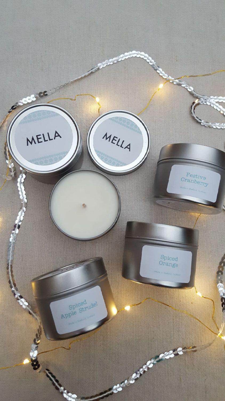 Small Christmas Travel Candle Tin