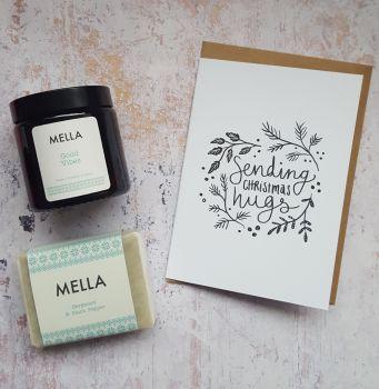 Christmas Hugs, Mella Candle and Soap Gift Set