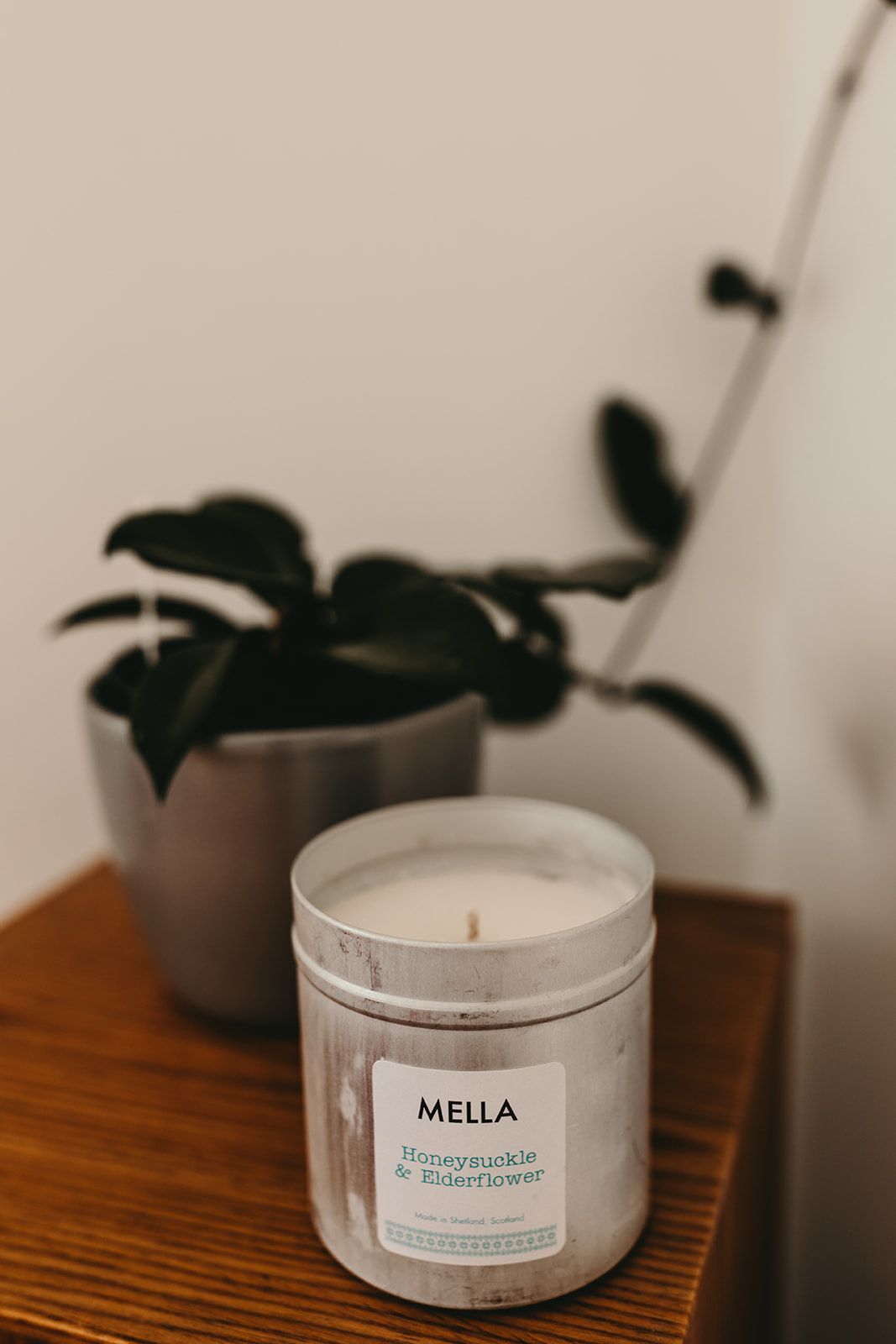 Large Winter Honeysuckle and Elderflower Soy Wax Candle