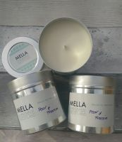 Large Pear and Freesia Soy Wax Candle