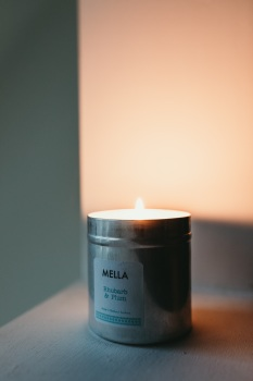 Rhubarb and Plum Soy Wax Candle