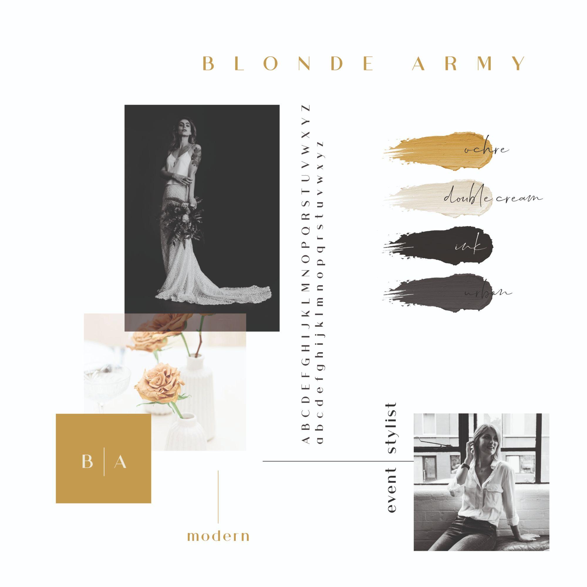 blonde army moodboard