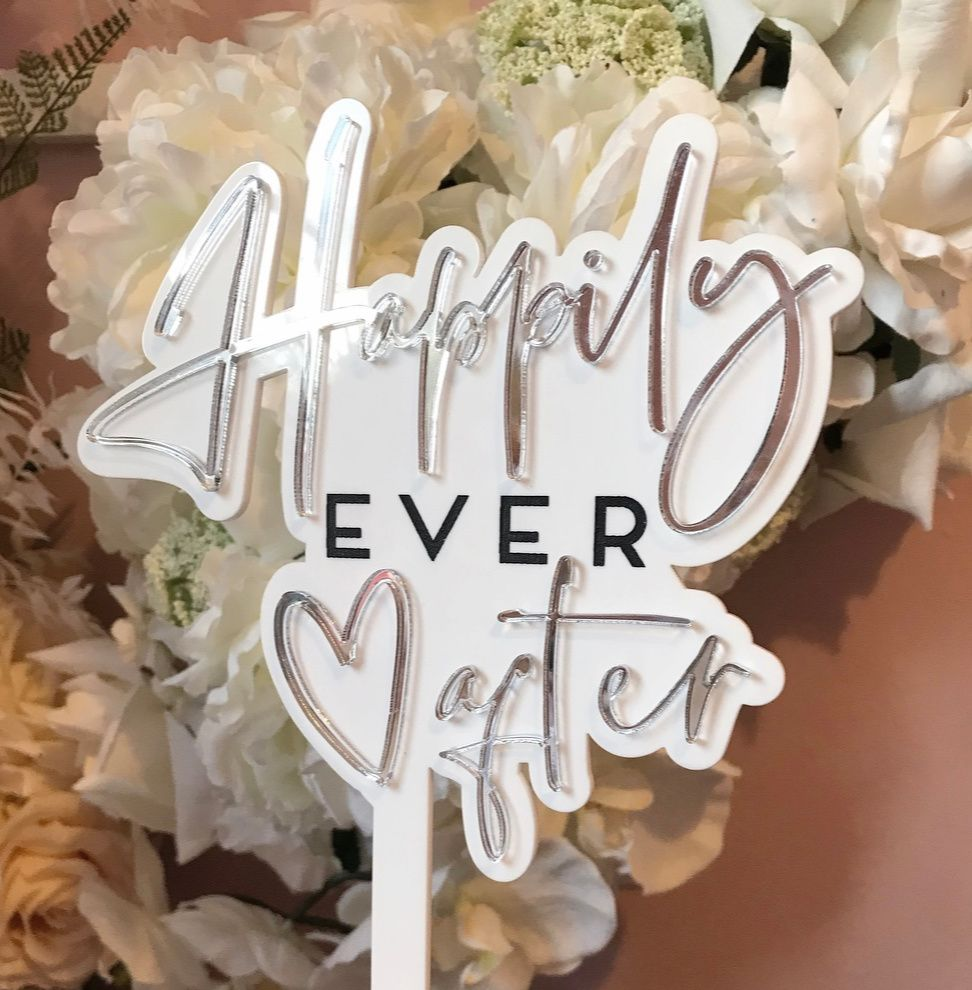 laser cutting wedding signage