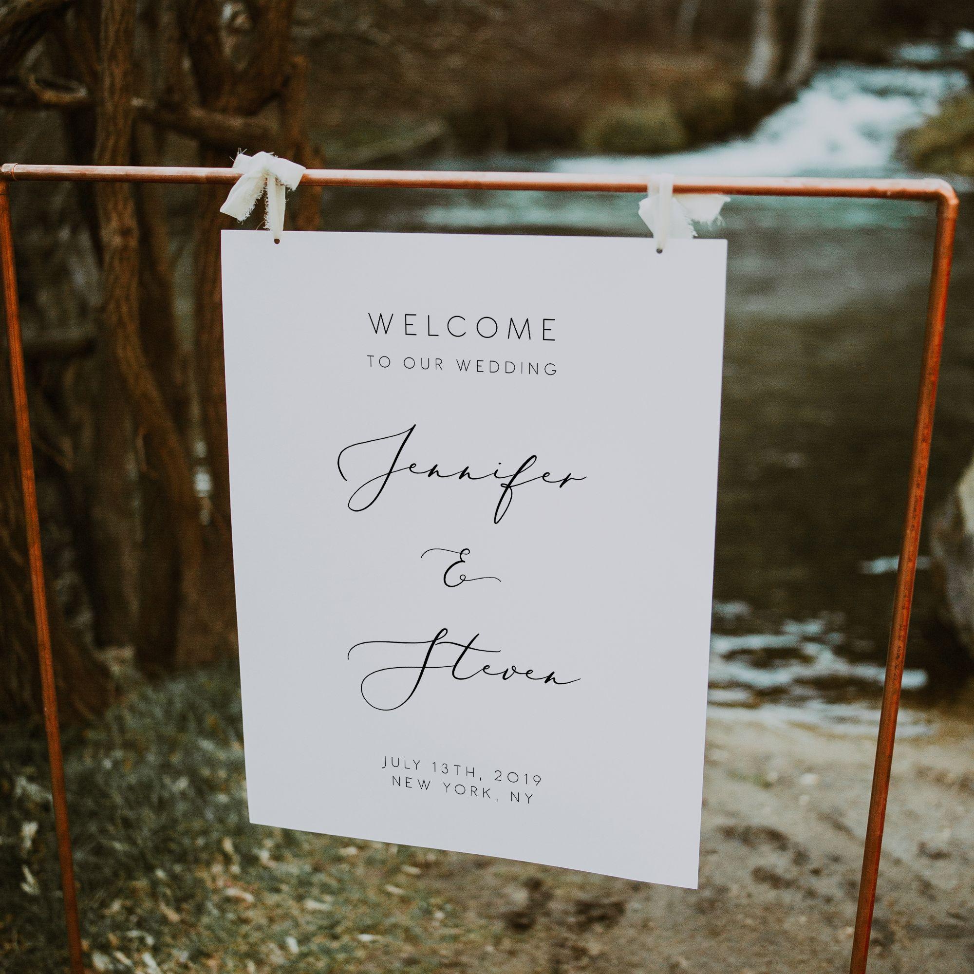 Modern Minimalist Wedding Welcome sign.jpg