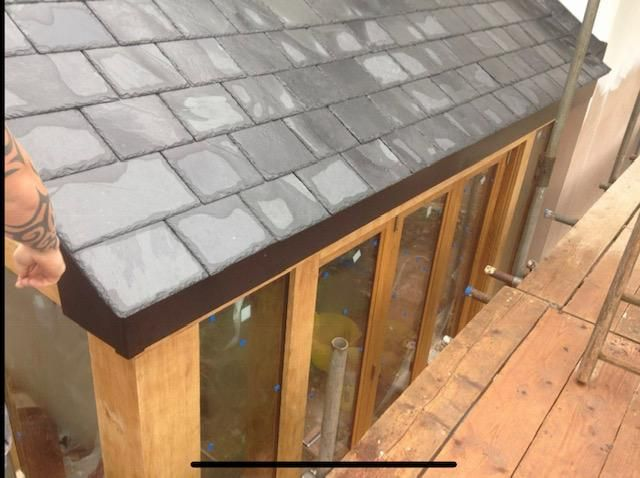 Oak extension roof