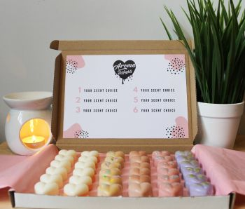 Large Personalised Wax Melt Heart Boxes - Luxury Wax Melt Gift Set