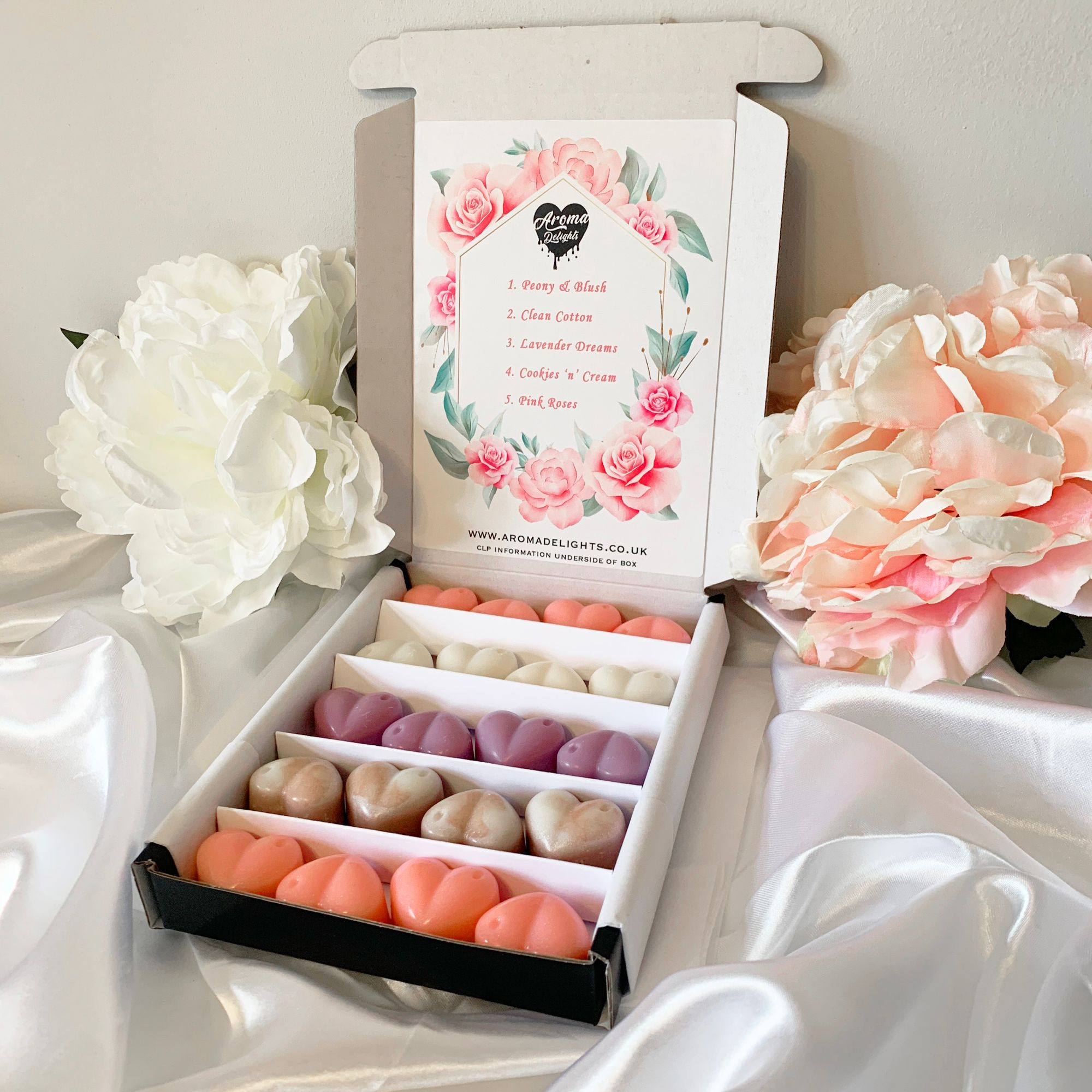 Staged Mother's Day Wax Melt Gift Box
