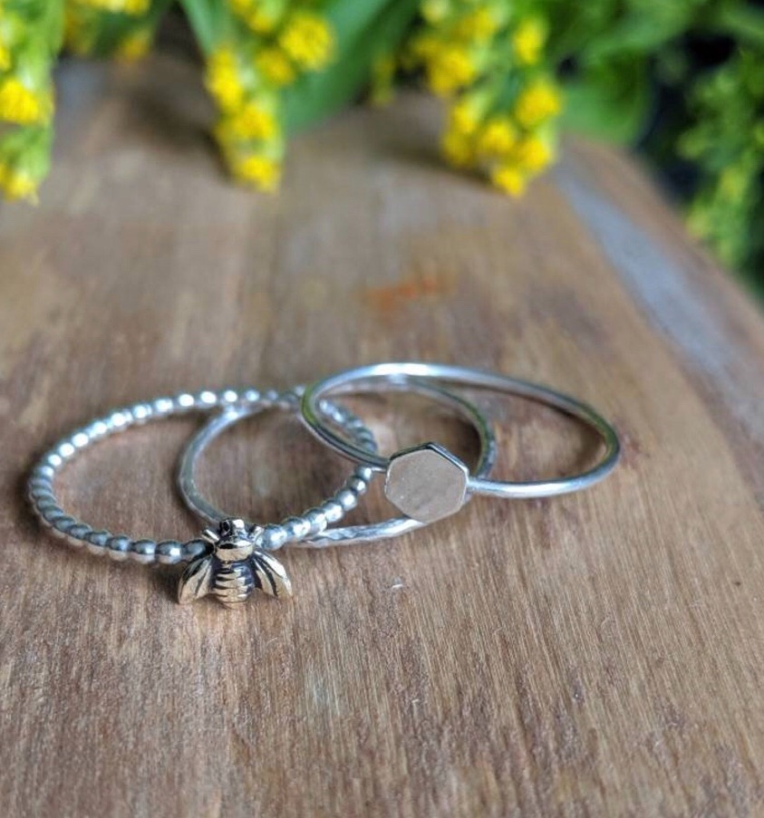 Bee stacking ring set workshop Sun 6th Oct 11am