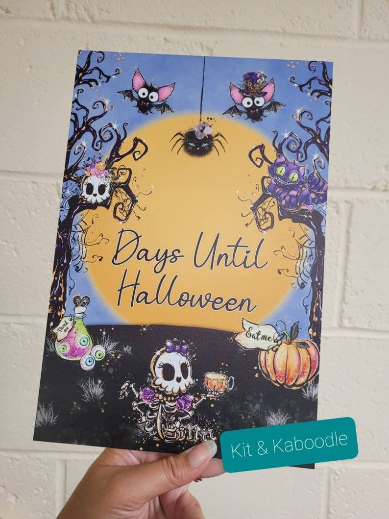 Personalised countdown to Halloween, countdown to spooky season, personalised sign, countdown, halloween sign, days till halloweenNew Product
