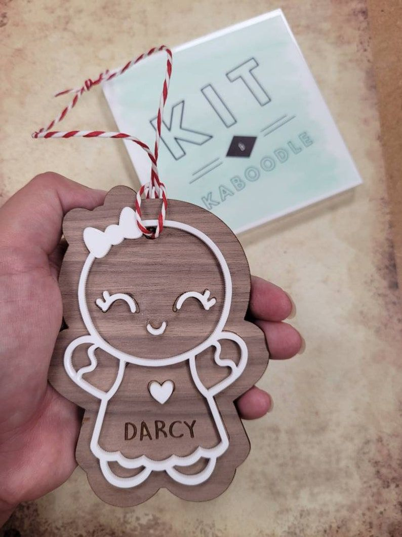 personalised Gingerbread man, gingerbread woman, personalised christmas decoration,christmas ornament, scandi decoration, gift for christmas