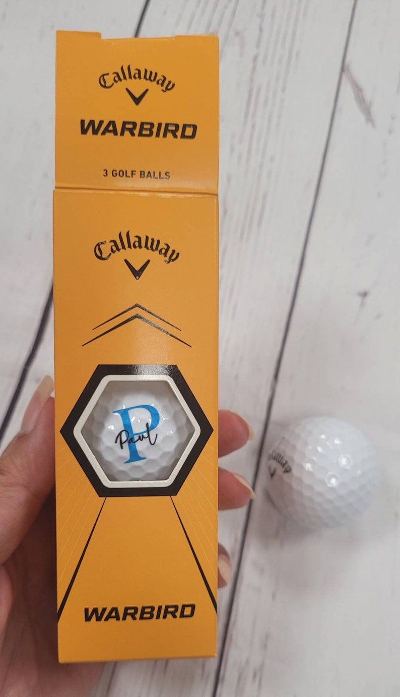 Personalised Callaway warbird golf balls, gift for golfer, gift for her, gi