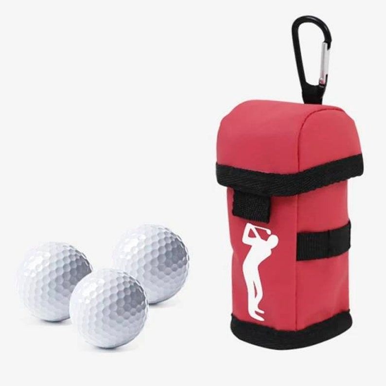Personalised Golf ball bag, Number 1 dad golfer, gift for golfer, gift for