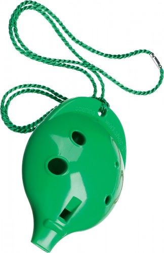 Ocarina Alto 6 Hole Green in Clam Pack