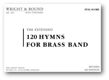 120 Hymns for Brass Band  (complete set (A4)  with full score)