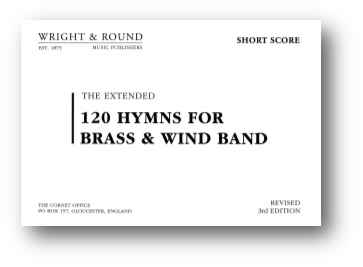 120 Hymns for Brass Band  (complete set (A4)  with short score)