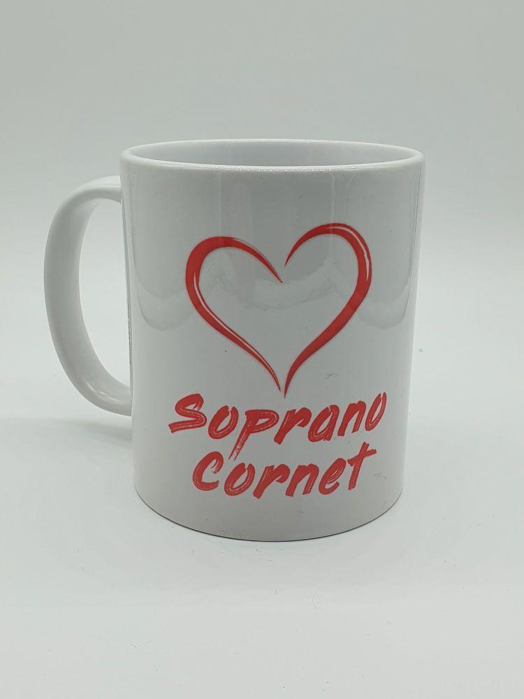 I Love Soprano Cornet - Printed Mug