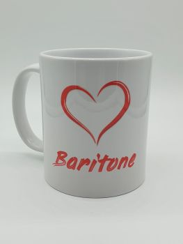 I Love Baritone - Printed Mug