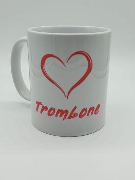 I Love Trombone - Printed Mug