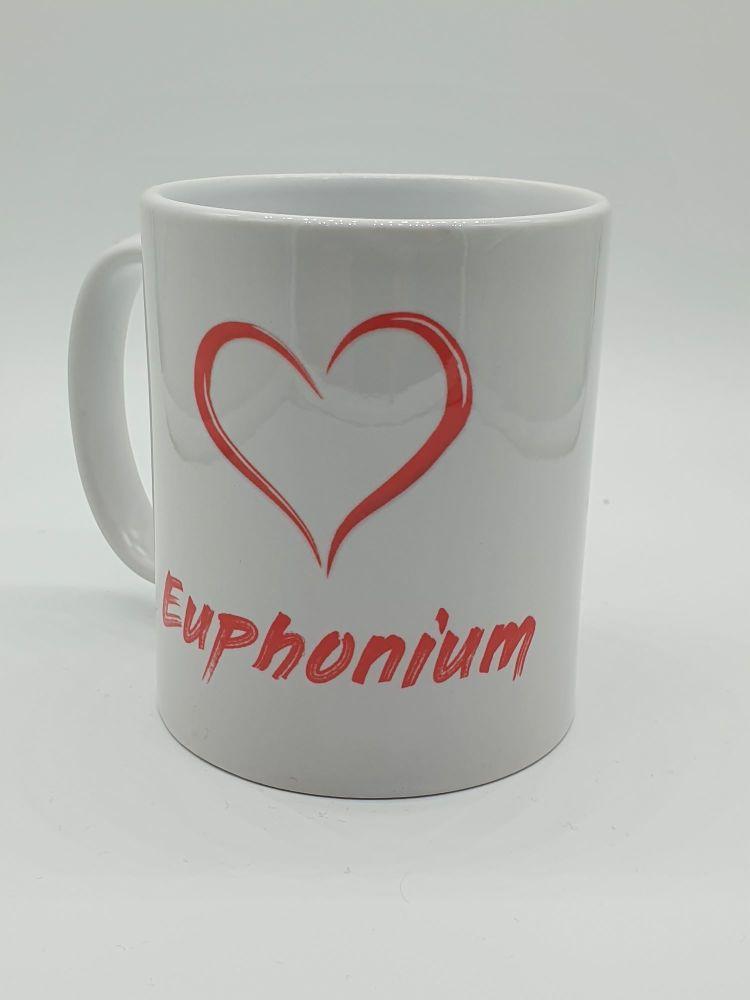 I Love Euphonium - Printed Mug