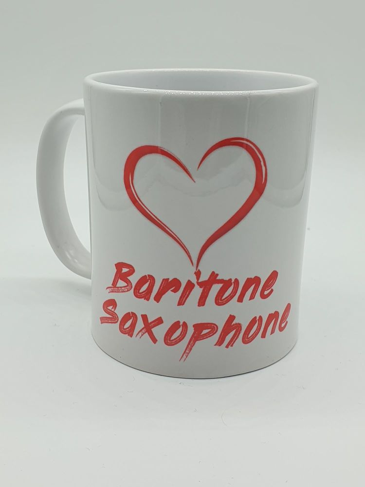 I Love Baritone Saxophone - Printed Mug