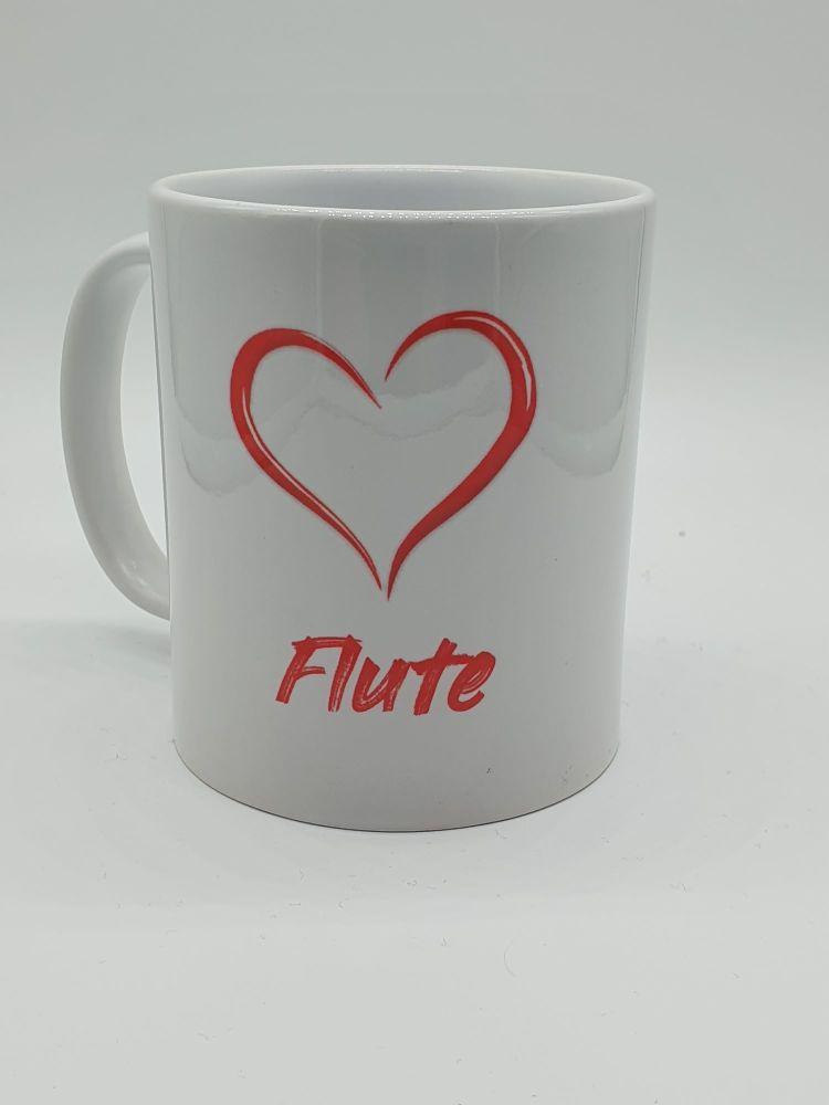 I Love Flute - Printed Mug
