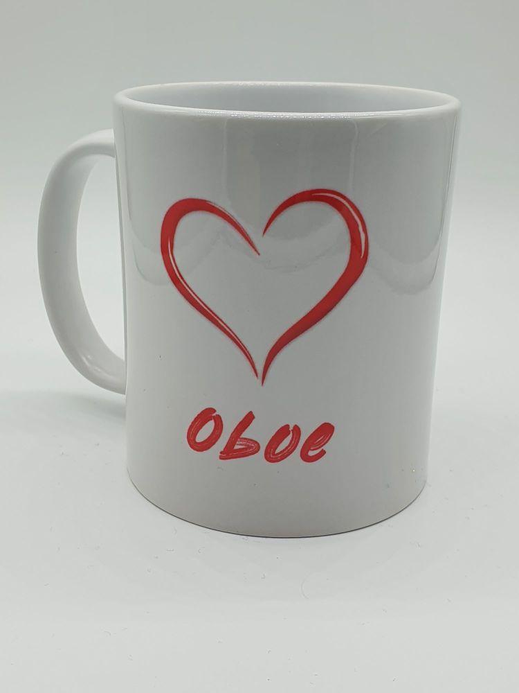 I Love Oboe - Printed Mug
