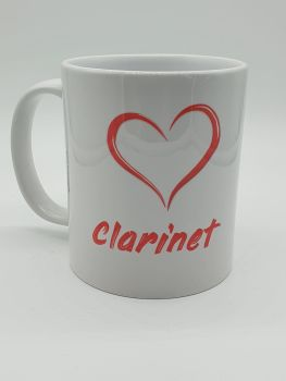 I Love Clarinet - Printed Mug
