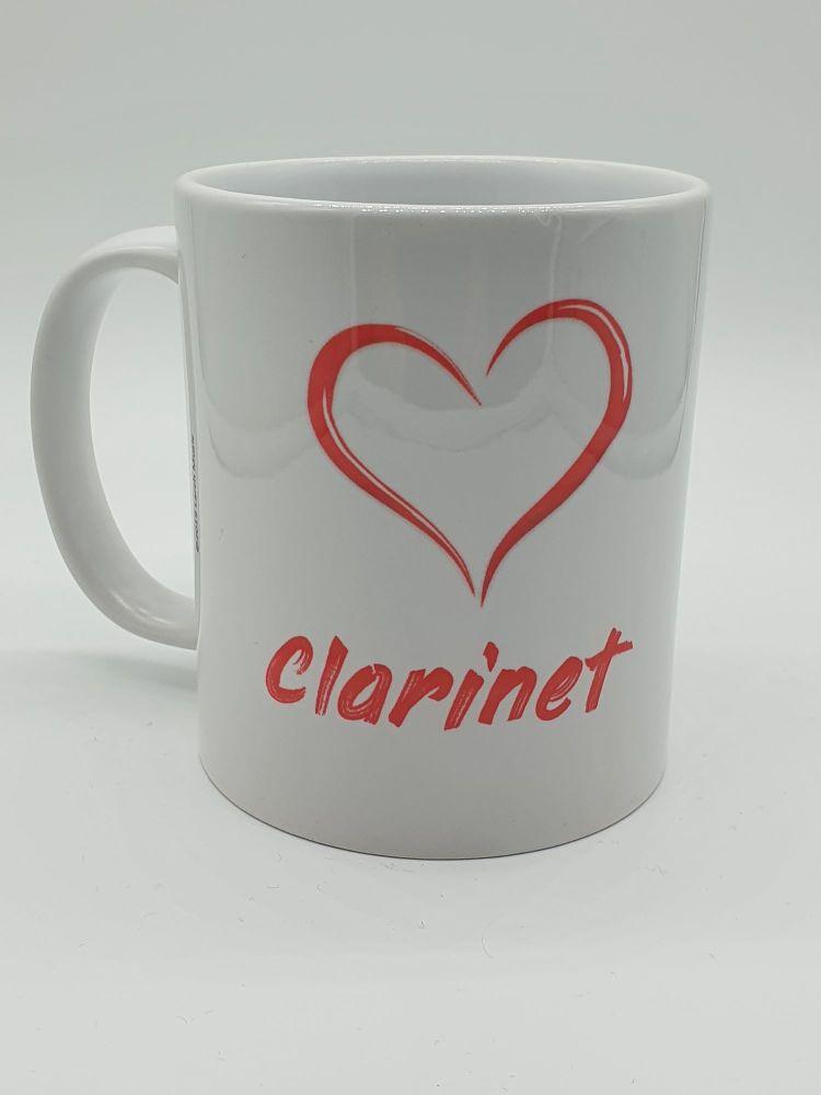 I Love Clarinet - Printed Mug