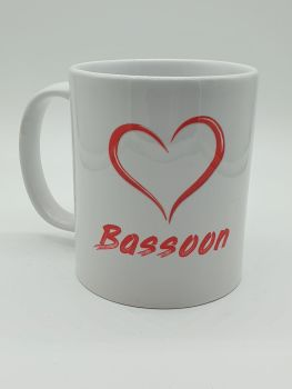 I Love Bassoon - Printed Mug
