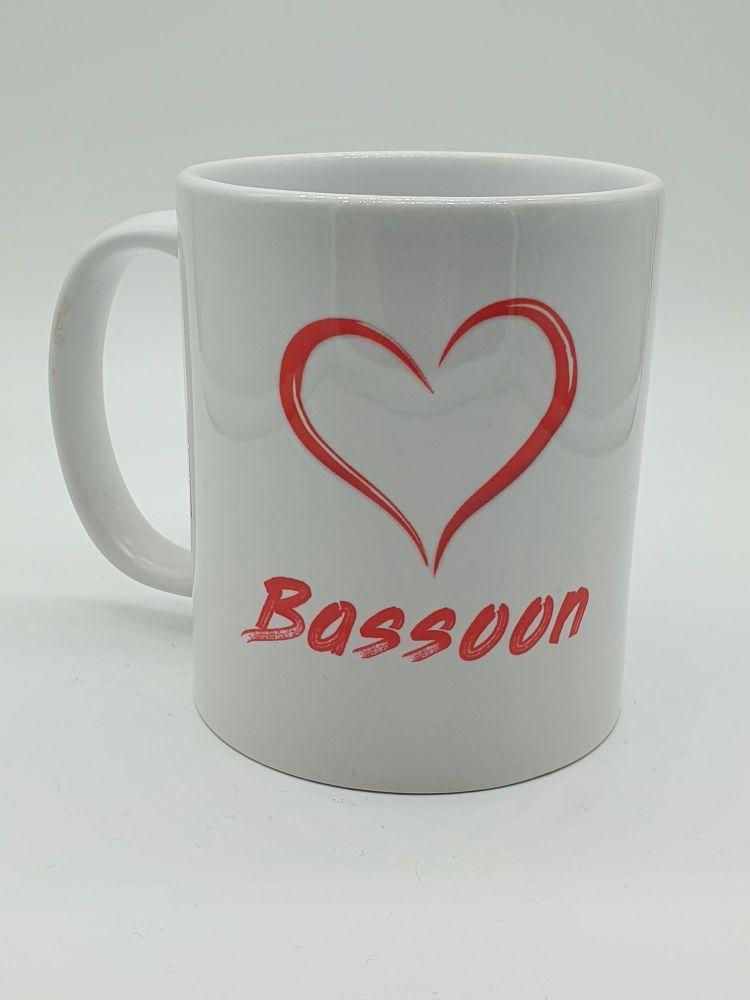 I Love Bassoon - Printed Mug