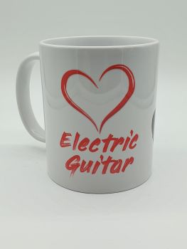 I Love Electric Guitar - Printed Mug