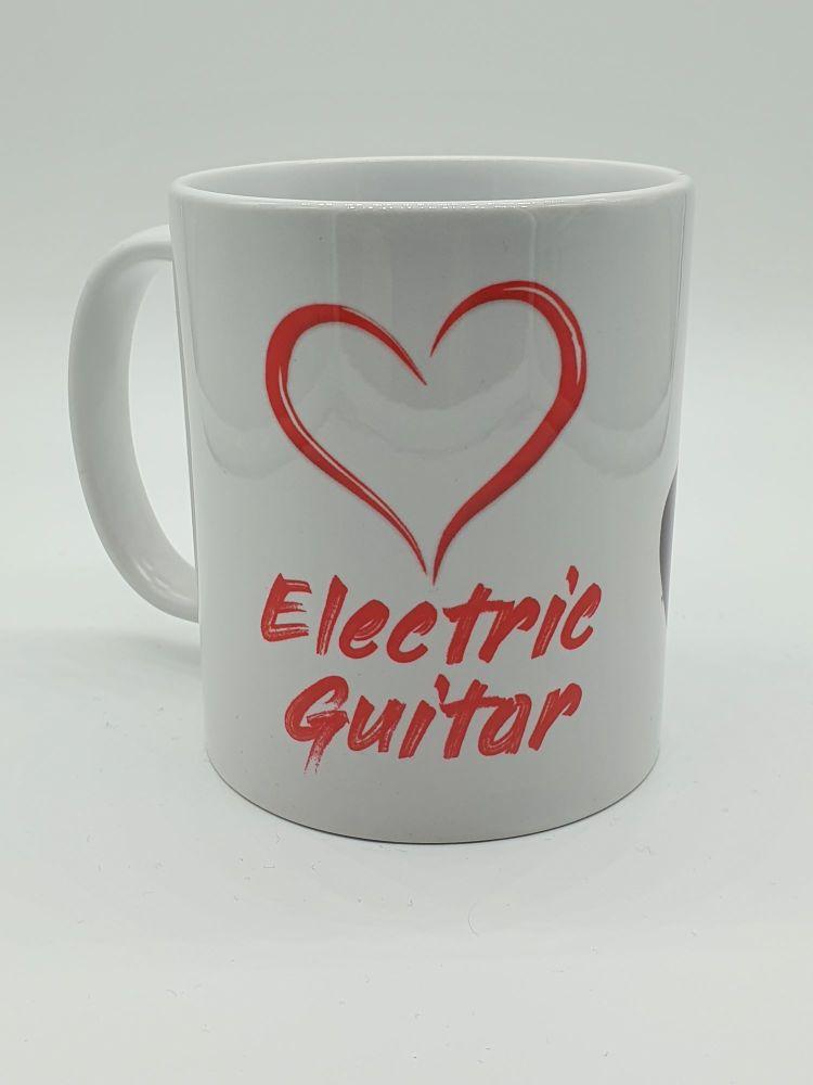 I Love Electric Guitar - Printed Mug