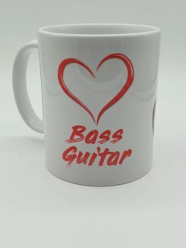 I Love Bass Guitar - Printed Mug
