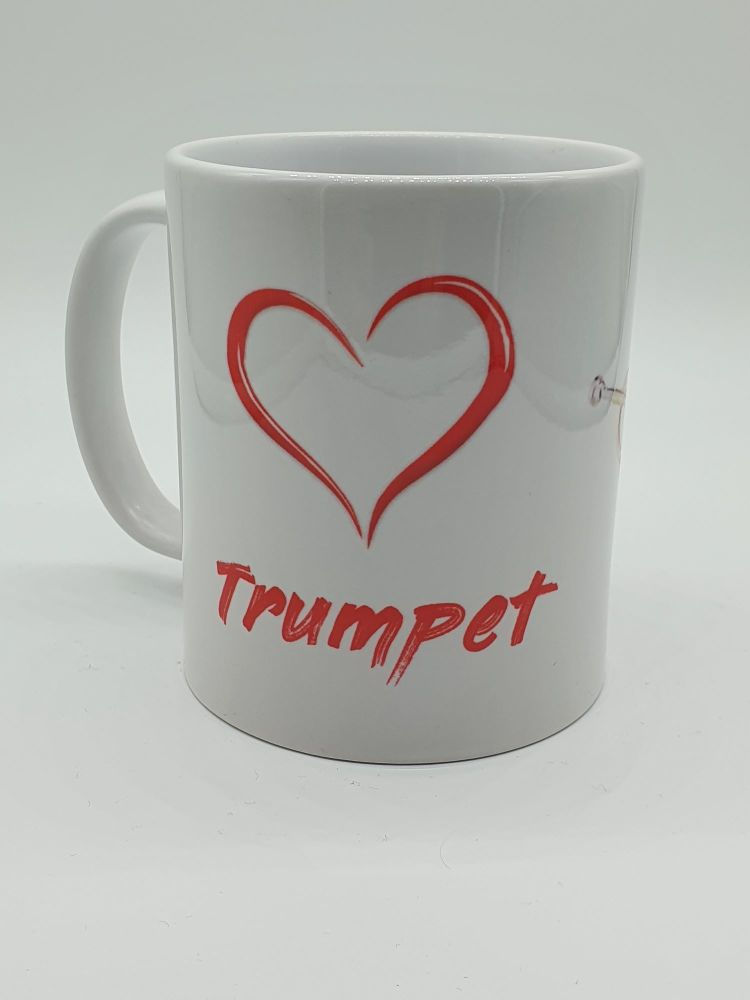 I Love Trumpet - Printed Mug