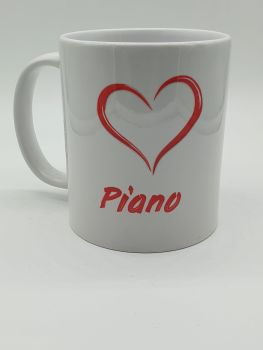 I Love Piano - Printed Mug