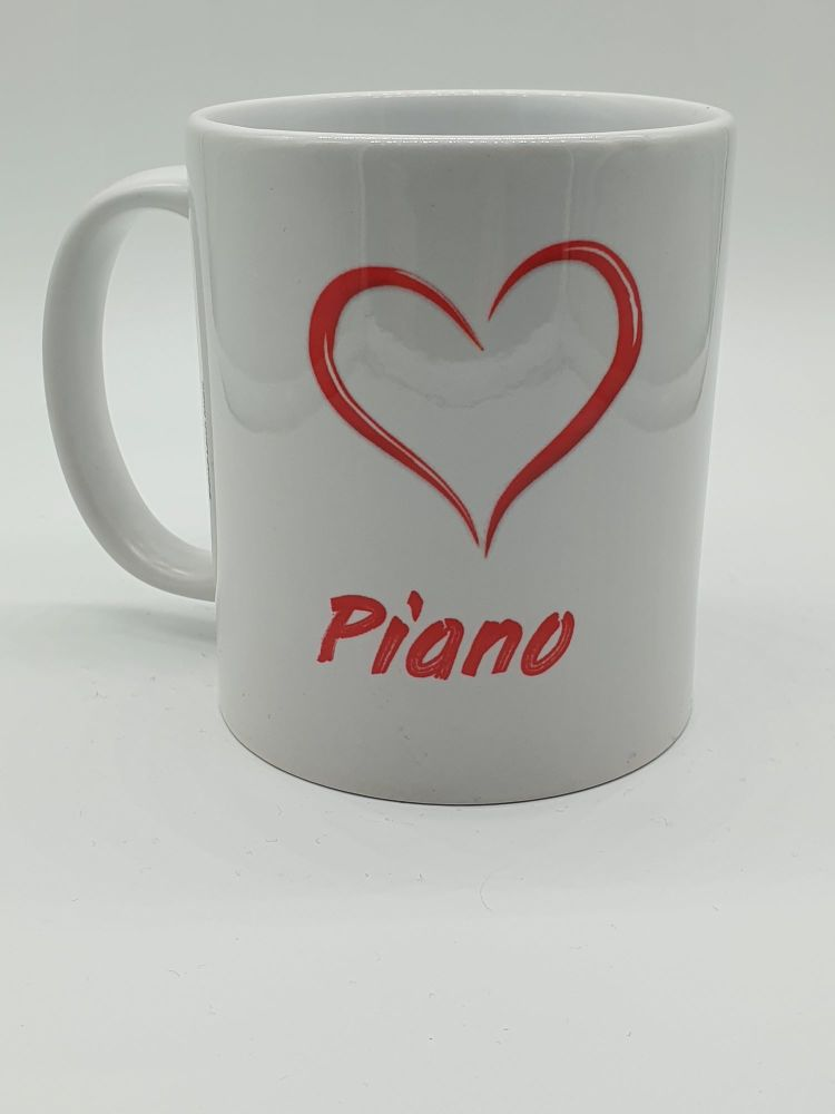 I Love Piano - Printed Mug