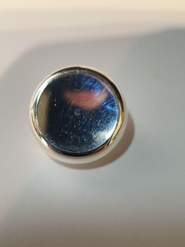 Geneva Finger Button - Euphonium Silver