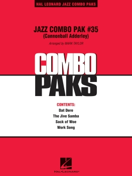 Jazz Combo Pack #35 (Cannonball Adderley)