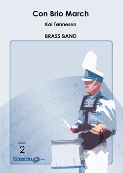 Con Brio March  --  -- Brass Band - Set (Score & Parts)
