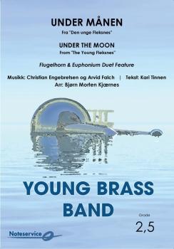 Under månen (Fra Den unge Fleksnes)  --  -- Brass Band - Set (Score & Parts)