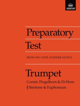 Preparatory Test for Trumpet - Book Only