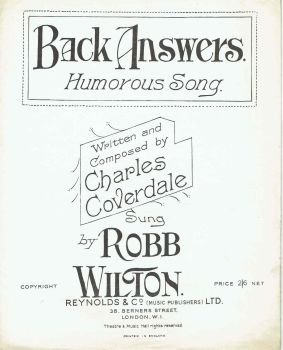 Back Answers - Preloved Sheet Music