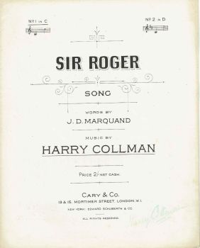 Sir Roger - Preloved Sheet Music